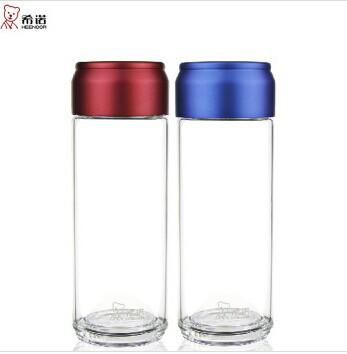 希诺单层玻璃杯415ml创意带提环